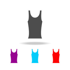 black tank t-shirt for women's icon. Elements of clothes in multi colored icons for mobile concept and web apps. Icons for website design and development, app development