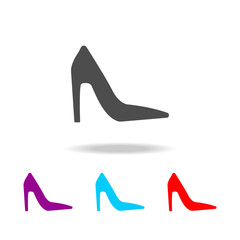 High heels shoes icon. Elements of clothes in multi colored icons for mobile concept and web apps. Icons for website design and development, app development