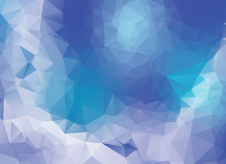 Vector White blue Polygon Abstract modern Polygonal Geometric Triangle Background.