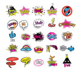 Hipsters teens set of stikers