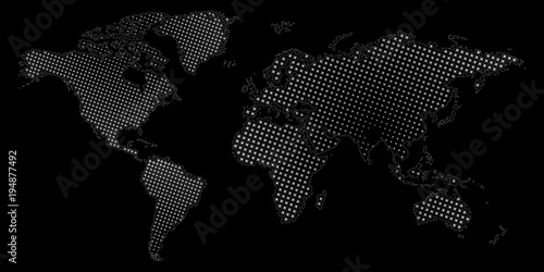 Halftone dotted world map vector eps10 illustration of abstract halftone dotted world map vector eps10 illustration of abstract world map gumiabroncs Gallery