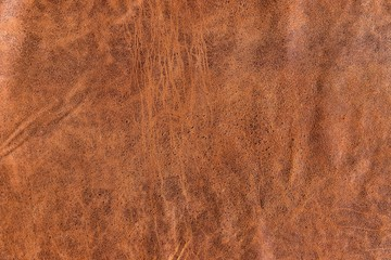 vintage brown cracked Italian goatskin leather for background use