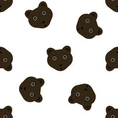 seamless pattern with cute animal