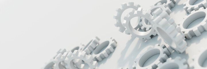 Gears background, technology, business and industry concepts. Original 3d rendering