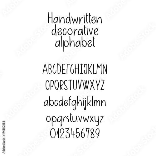 Decorative alphabet handwritten font uppercase lowercase numbers handwritten font uppercase lowercase numbers hand lettering font for m4hsunfo