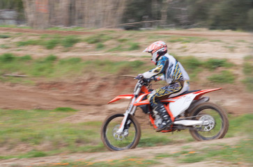 motocross rider (motion blur effect)