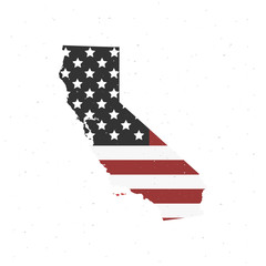 Wall Mural - California map icon. Vector illustration