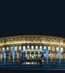 retro architecture at night (PS modified)