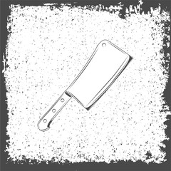 Meat cleaver knife icon. Vector illustration.