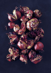 grenade , coque ,  fruits  , rouge  , grains