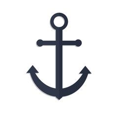 anchor vector icon illustration