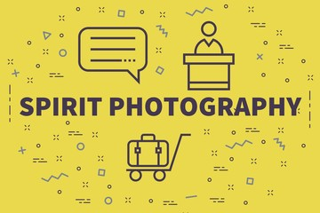 Conceptual business illustration with the words spirit photography