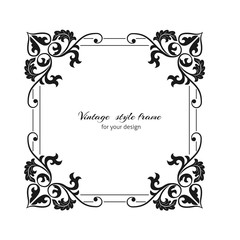Vintage style oranate frame. Template for greeting, invitation, ..advertisement or  announcement.