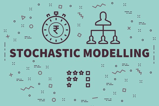 Conceptual business illustration with the words stochastic modelling