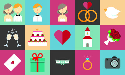 A set of wedding images