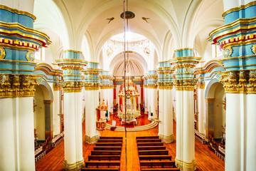 Detaail Inside view of Catedral de la Ciudad de Potosi