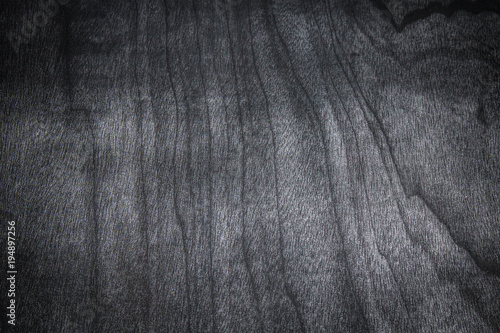 Dark Wood Texture Background Of Black Table Desk Top View Or