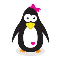 cute cartoon penguin girl