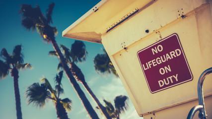 Retro Style Californian Lifeguard Station