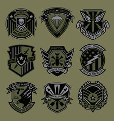 Military patch emblem badges