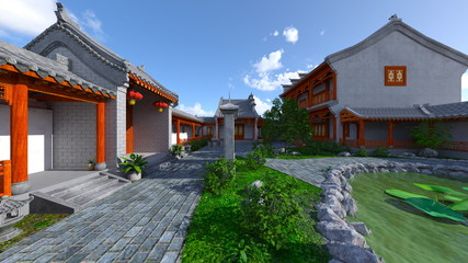 中国式住居と中庭