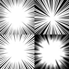 Comic monochrome templates set