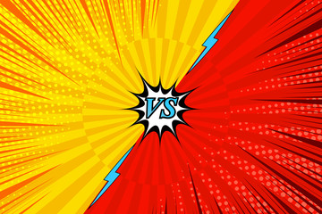 Comic fighting bright background