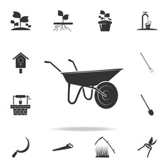 garden trolley icon. Detailed set of garden tools and agriculture icons. Premium quality graphic design. One of the collection icons for websites, web design, mobile app