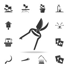 gardening scissors icon. Detailed set of garden tools and agriculture icons. Premium quality graphic design. One of the collection icons for websites, web design, mobile app