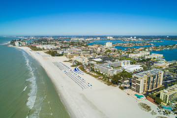 Aerial image of resorts on St Pete Beach FL
