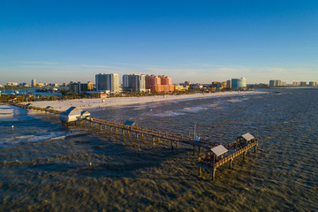 Aerial image Clearwater Beach Florida fishing pier