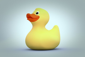 Yellow rubber duck 3d render