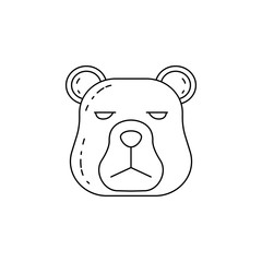 the head of a bear icon. Element of camping and outdoor recreation for mobile concept and web apps. Thin line icon for website design and development, app development. Premium icon