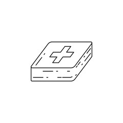 first-aid kit icon. Element of camping and outdoor recreation for mobile concept and web apps. Thin line icon for website design and development, app development. Premium icon