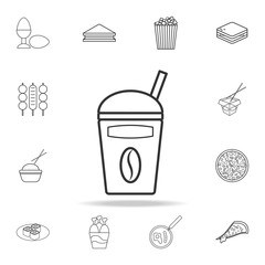take away coffee cup line icon. Detailed set of fast food icons. Premium quality graphic design. One of the collection icons for websites, web design, mobile app