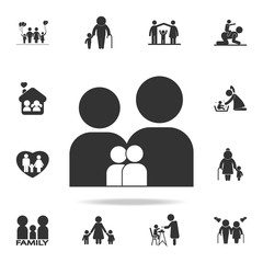 family icon. Detailed set of family icons. Premium quality graphic design. One of the collection icons for websites, web design, mobile appfamily