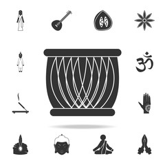 Indian drum icon. Detailed set of Indian Culture icons. Premium quality graphic design. One of the collection icons for websites, web design, mobile app