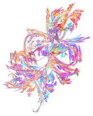 Pastel Rainbow Flame Abstract