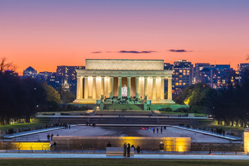 Fotomurales - Abraham Lincoln Memorial in Washington, D.C. United States