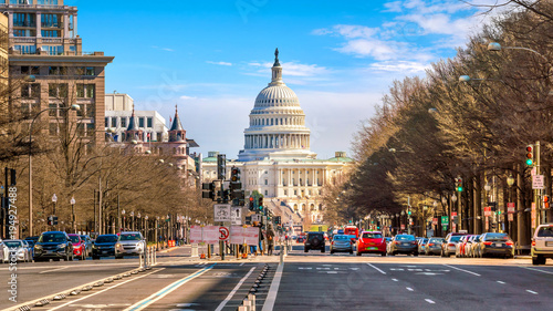 Wall mural The United States Capitol building DC