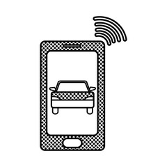 filling texture smartphone with car transport and used wifi