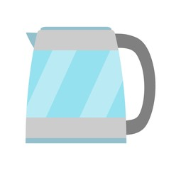 Kettle simple icon isolated. Household appliance. Kettle for boiling water. Flat style. Vector illustration