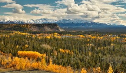 View of Wrangell - St. Elias mountains from Glenn HWY, Alaska