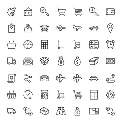Online store flat icon