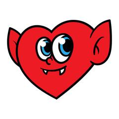 Cartoon Vampire Heart Character