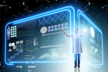 Woman doctor in telemedicine mhealth concept