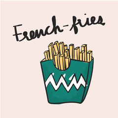 Illustration of french fries