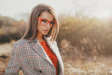attractive girl in glasses