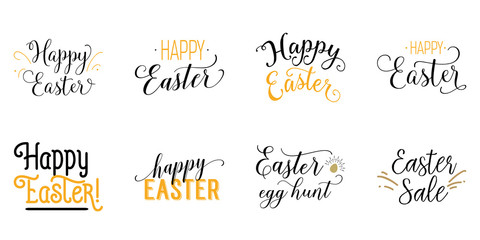 Happy Easter lettering set