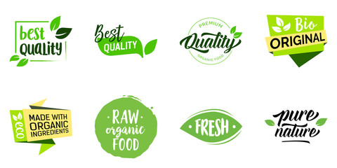 Organic Food Lettering Set